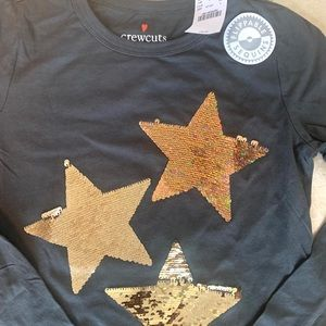 J. Crew Flippable Graphic Star Sequins Tee Shirt